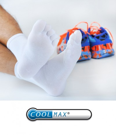 Chaussettes Doigts Coolmax  blanc