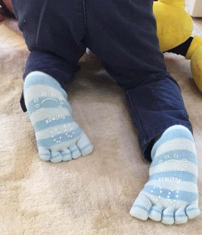 toes socks cotton blue baby children