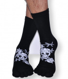 Chaussettes doigts Coton Pirate