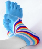 Chaussettes courtes Doigts  Rayures