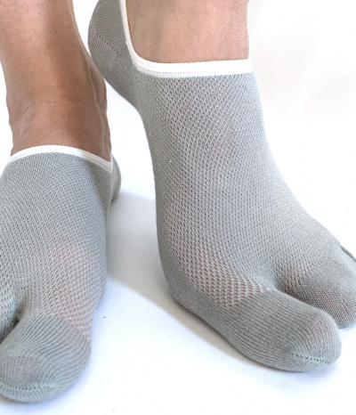 chaussettes invisible 2 doigts gris